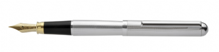 Bath Sterling Silver Fountain Pen - Barleycorn Sterling Silver